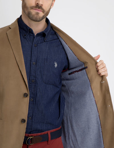 BROWN CORDUROY BLAZER - U.S. Polo Assn.