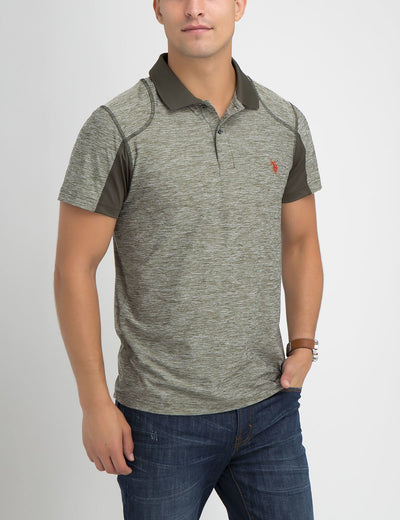 SLIM FIT SPACEDYE POLO SHIRT - U.S. Polo Assn.