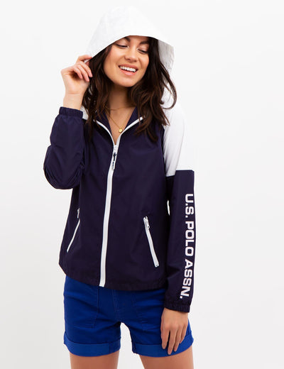 Windbreaker with Hood - U.S. Polo Assn.