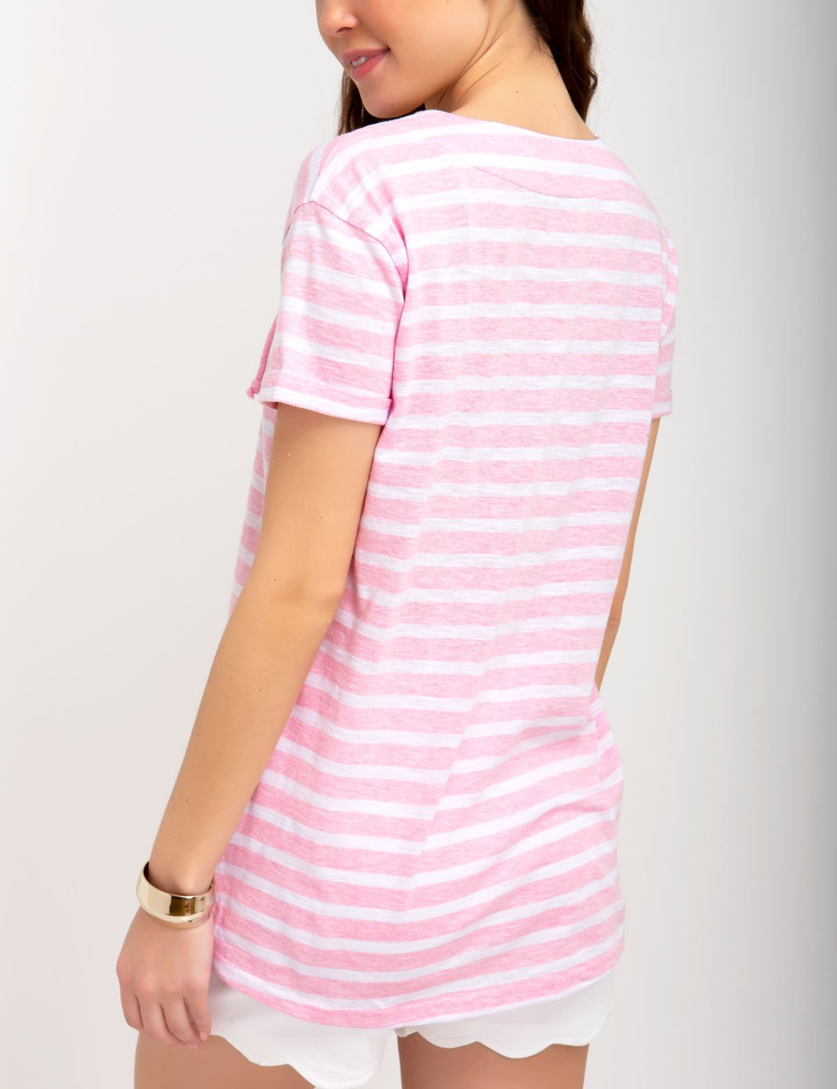 STRIPED LACE-UP TOP - U.S. Polo Assn.
