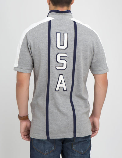 PATCHED USA VERTICAL POLO SHIRT - U.S. Polo Assn.