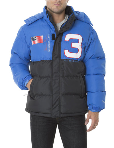 CONGRESSIONAL CUP COLOR BLOCK SHORT BUBBLE JACKET - U.S. Polo Assn.