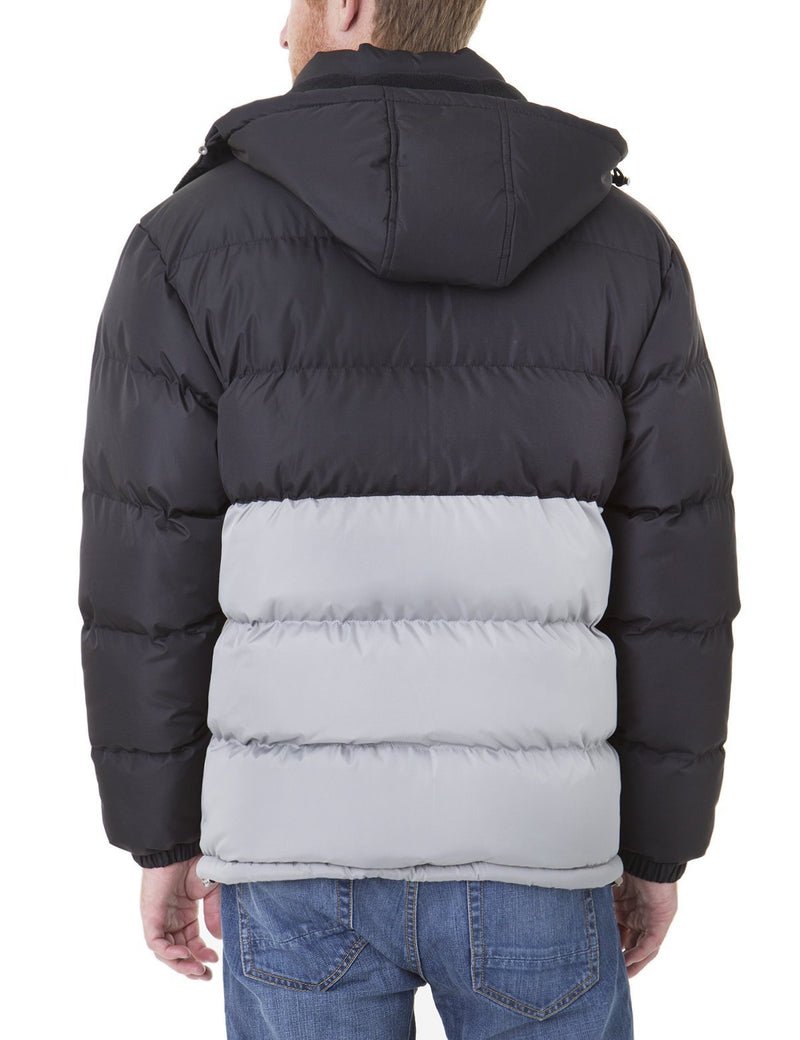 COLORBLOCK BUBBLE JACKET