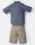 BOYS 2 PIECE SET: WOVEN SHIRT & SHORTS - U.S. Polo Assn.