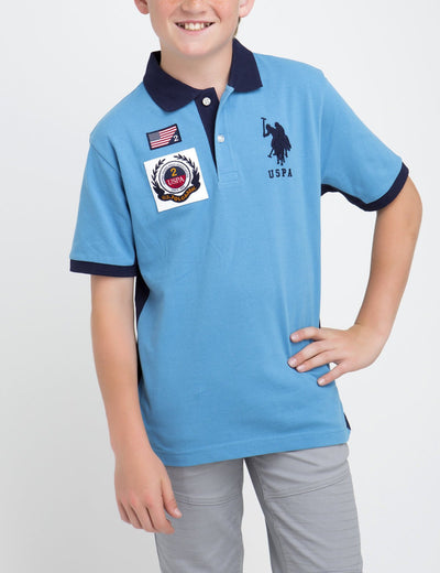 BOYS PATCH POLO SHIRT - U.S. Polo Assn.
