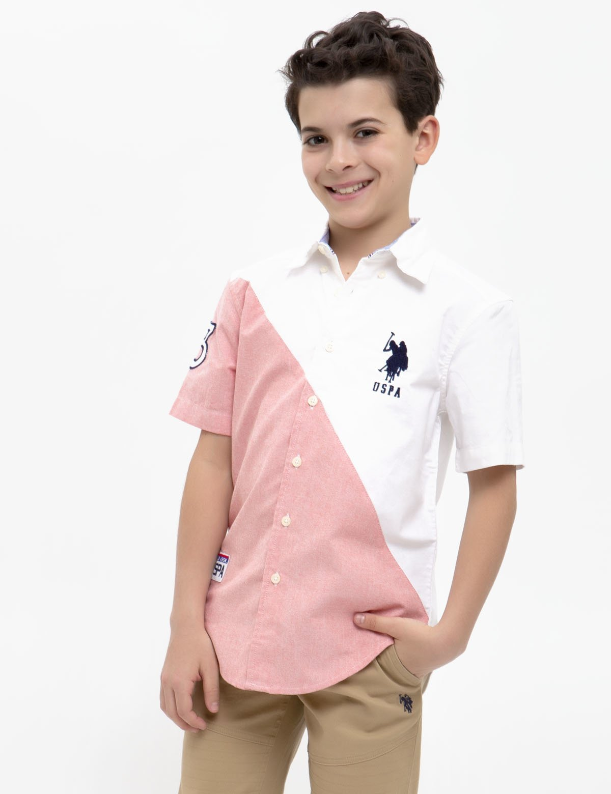 BOYS SHORT SLEEVE OXFORD SHIRT