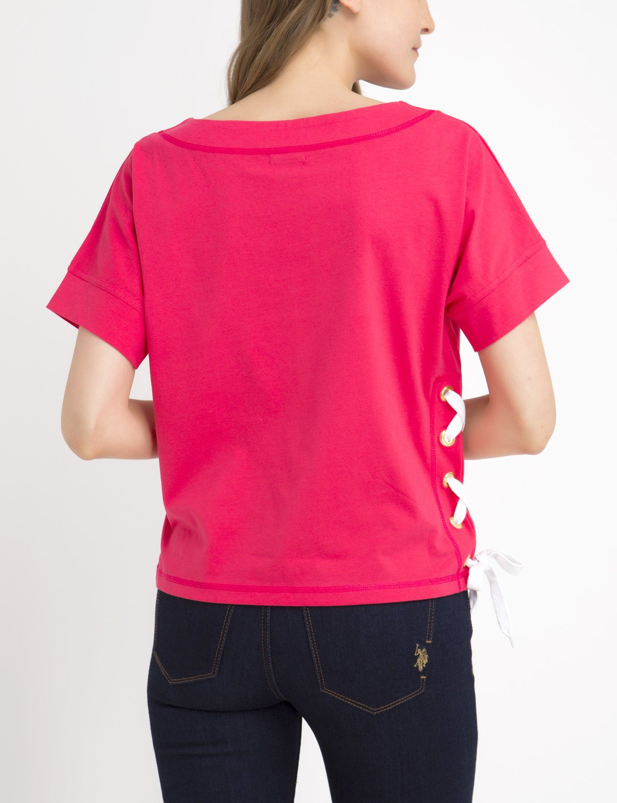 SOLID LACEUP T-SHIRT - U.S. Polo Assn.