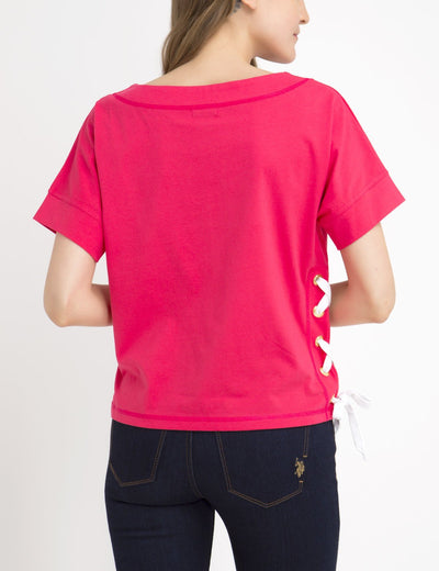 SOLID LACEUP TEE-SHIRT - U.S. Polo Assn.