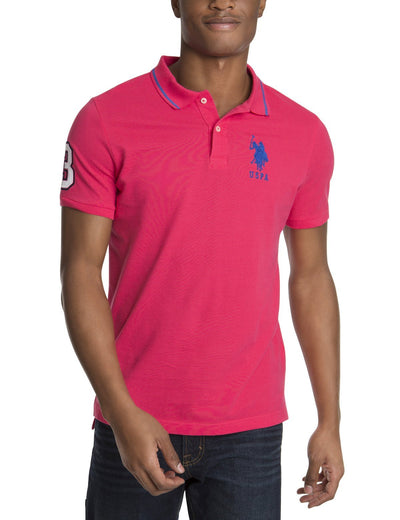 SLIM FIT BIG LOGO POLO SHIRT - U.S. Polo Assn.