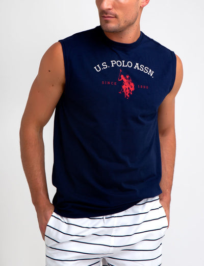 ARCHED LOGO MUSCLE T-SHIRT - U.S. Polo Assn.