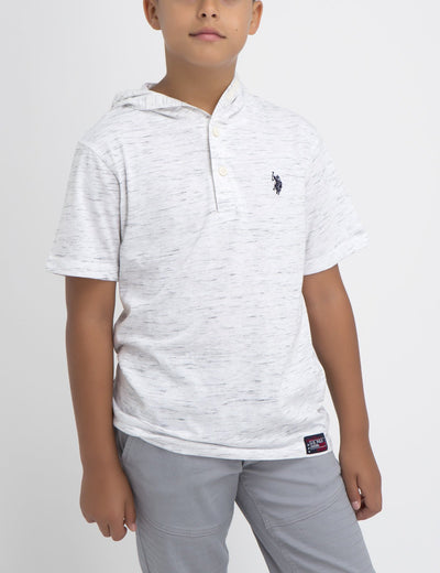 BOYS POPOVER COTTON JERSEY - U.S. Polo Assn.