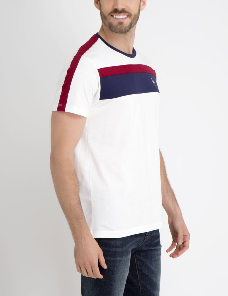MULTI CHEST STRIPED TEE