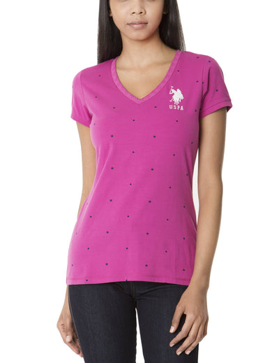 DOT & STAR PRINTED TEE - U.S. Polo Assn.