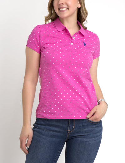 PREMIUM DOT OXFORD MIX POLO SHIRT - U.S. Polo Assn.