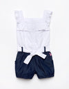 GIRLS EYELET ROMPER - U.S. Polo Assn.