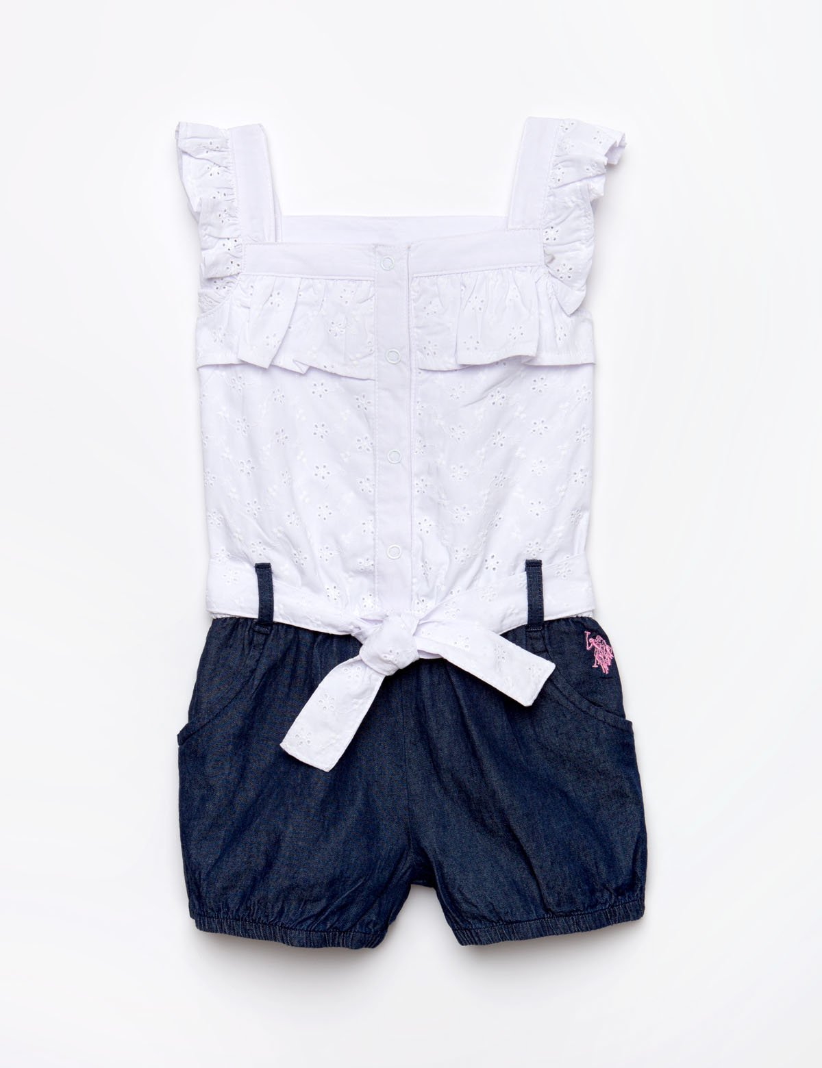 GIRLS EYELET ROMPER