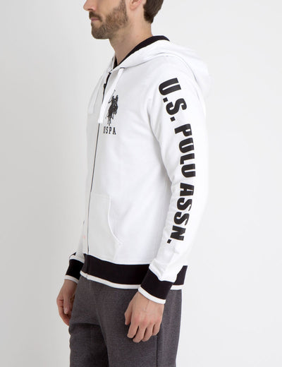 HOODIE WITH RUBBER LOGOS