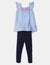 TODDLER GIRLS 2 PIECE SET: FLUTTER SLEEVE TANK & CAPRIS - U.S. Polo Assn.