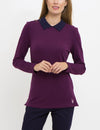 BIRDEYE PETER PAN COLLAR LONG SLEEVE TOP