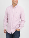 CLASSIC FIT DOBBY STRIPE SHIRT IN OXFORD