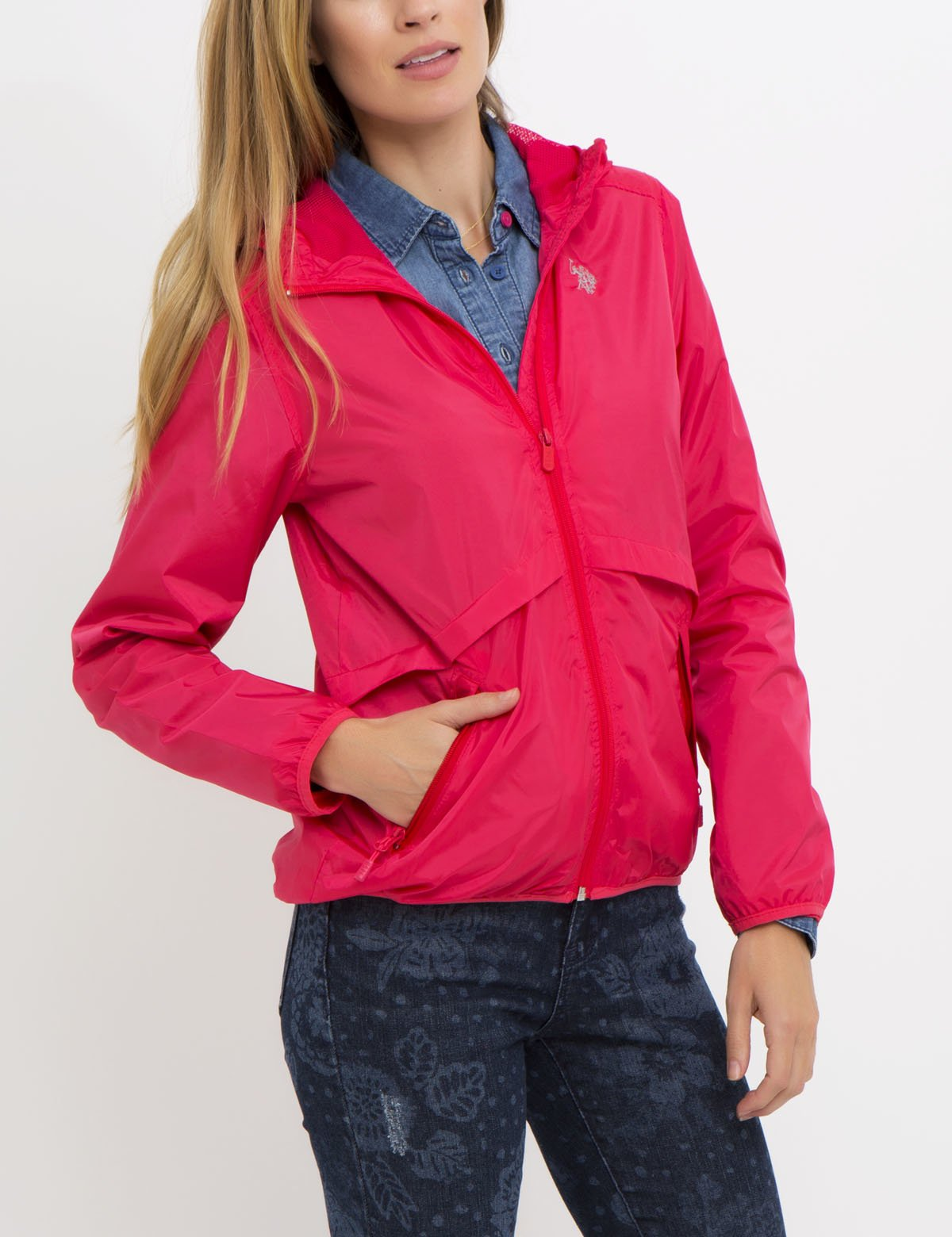 HOODED WINDBREAKER JACKET - U.S. Polo Assn.
