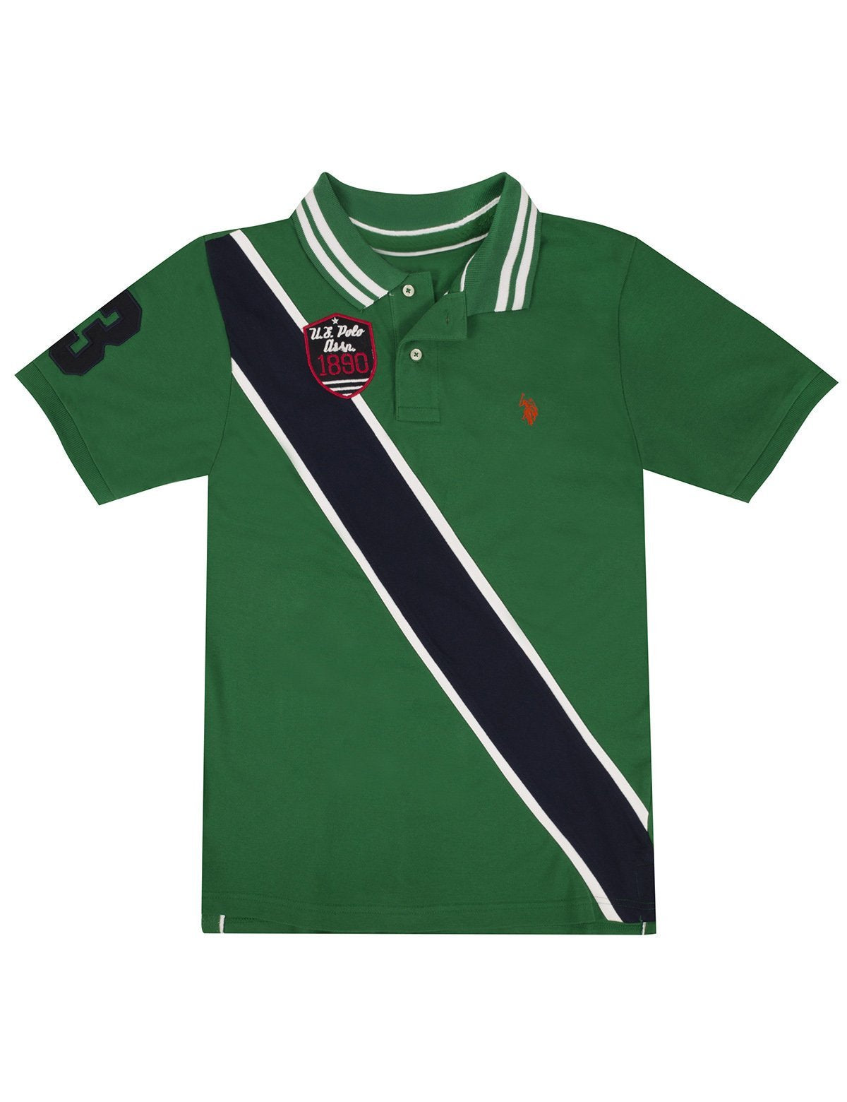 Boys Diagonal Stripe Polo Shirt - U.S. Polo Assn.