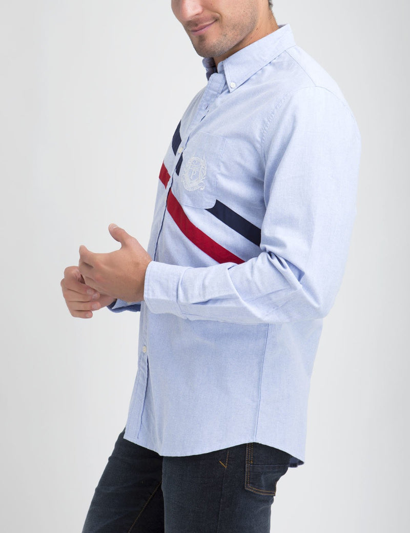 CLASSIC FIT DIAGONAL SHIRT IN OXFORD