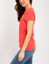 BIG LOGO NEON V-NECK TIPPED T-SHIRT - U.S. Polo Assn.