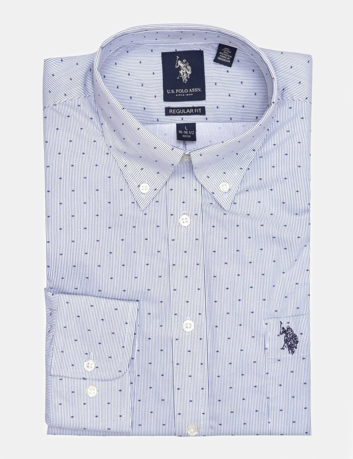 DOT STRIPED DRESS SHIRT - U.S. Polo Assn.