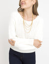 FUZZY MIXED STITCH SWEATER - U.S. Polo Assn.