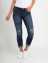 STRETCH RELAXED FIT PATCH AND DESTRUCTION JEAN