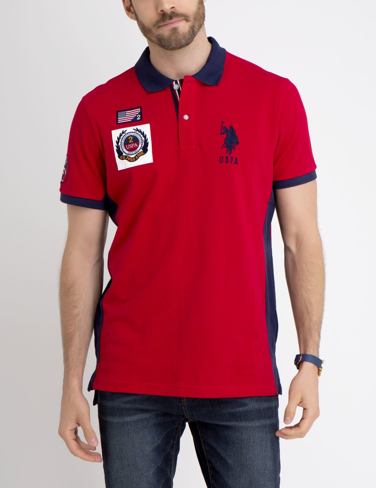 FLAG PATCH POLO SHIRT