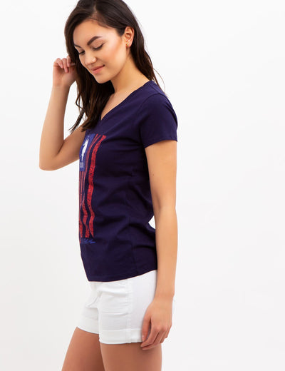 VERTICAL FLAG TEE