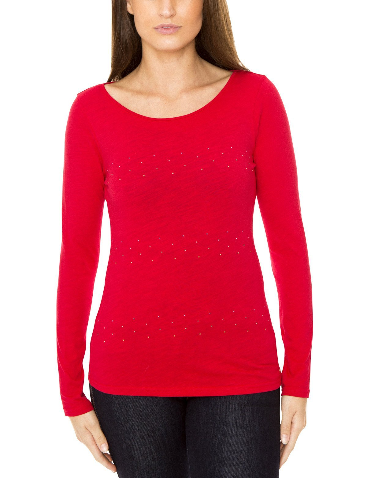 Rhinestone Long Sleeve T-Shirt