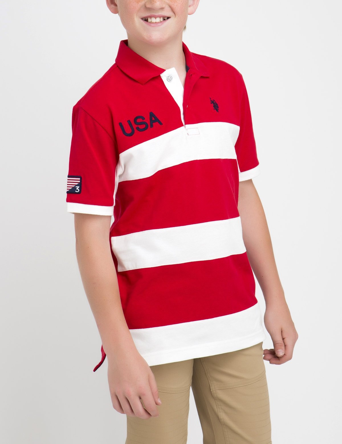 BOYS USA RUGBY POLO SHIRT