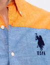STRETCH SLIM CANVAS SHIRT - U.S. Polo Assn.