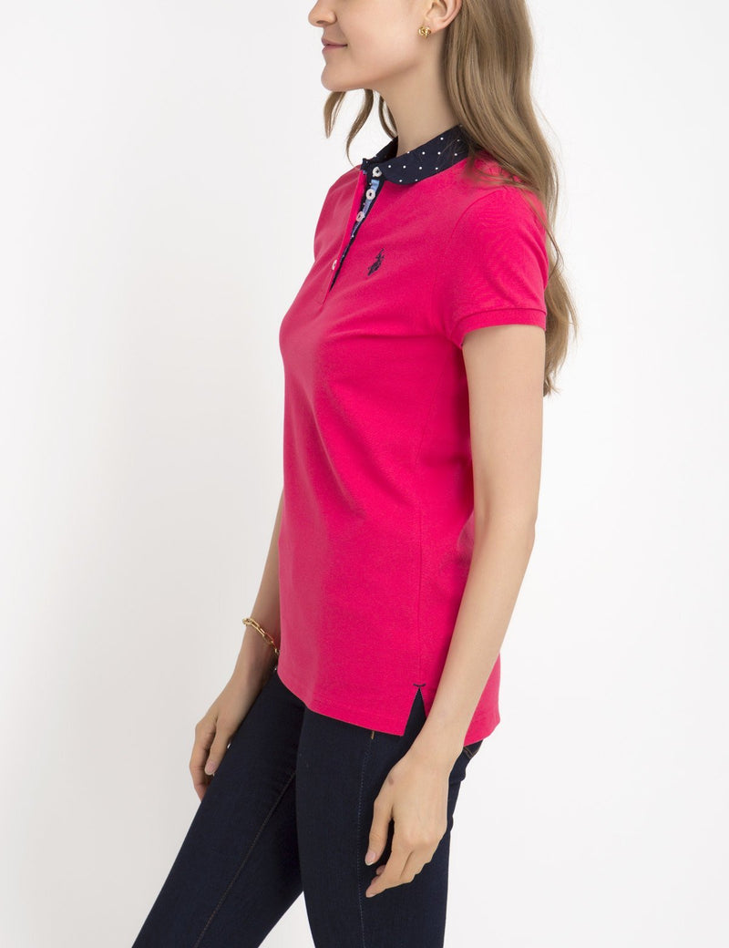 PREMIUM DOT COLLAR POLO SHIRT