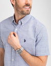 CLASSIC FIT COTTON POPLIN SHIRT - U.S. Polo Assn.