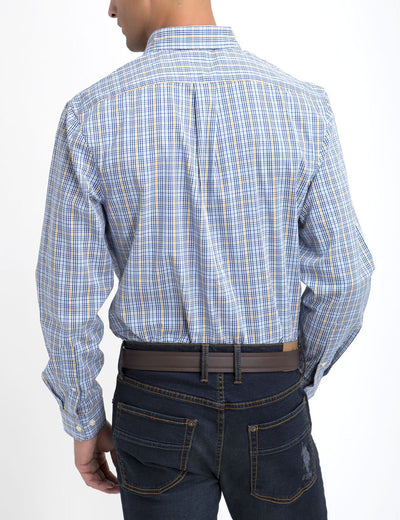 STRETCH FIT PLAID SHIRT IN POPLIN - U.S. Polo Assn.