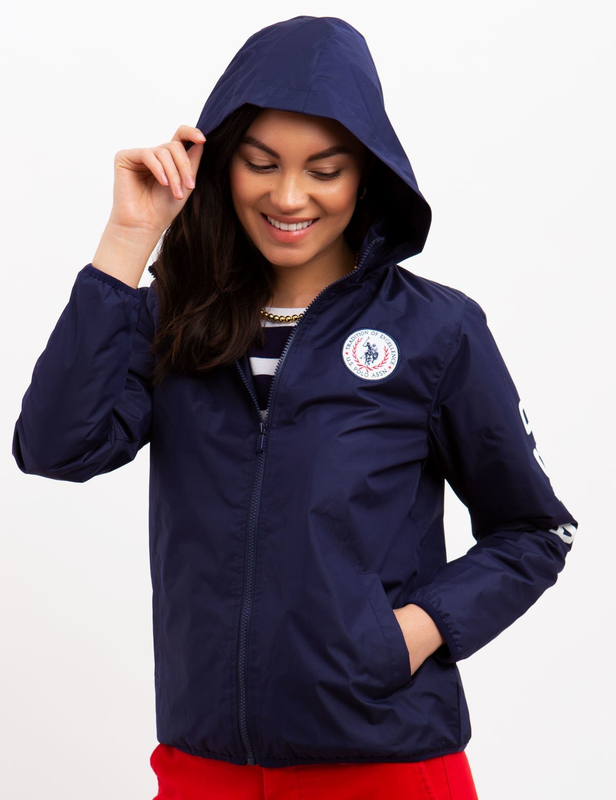 USPA LOGO JACKET WITH HOOD - U.S. Polo Assn.
