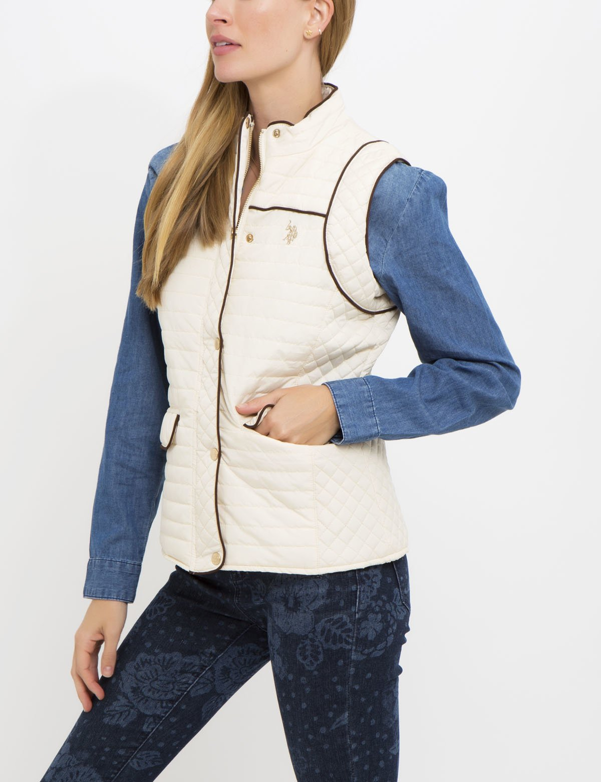 PIPED MULTI QUILT VEST