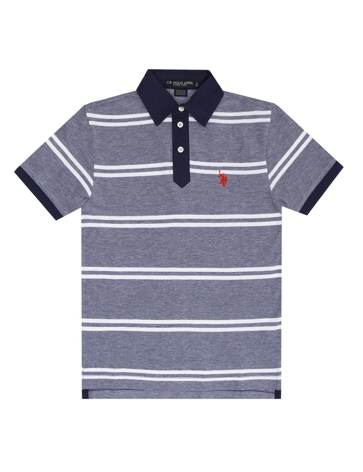 Striped Birdseye Polo Shirt