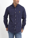 STRETCH FIT LARGE PLAID SHIRT IN POPLIN - U.S. Polo Assn.