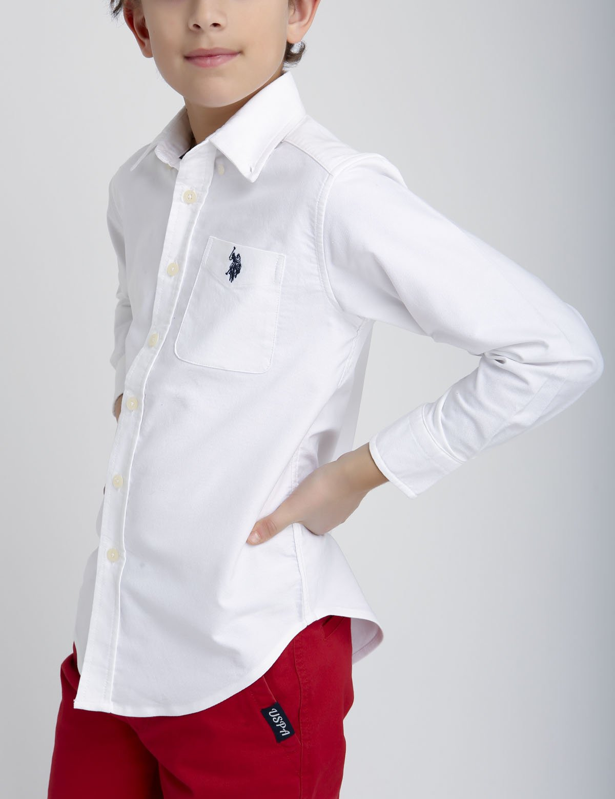 BOYS STRETCH OXFORD SHIRT