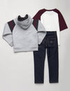 BOYS 3 PIECE SET - FLEECE, TEE & JEANS - U.S. Polo Assn.