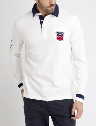 PATCHED POCKET POLO SHIRT
