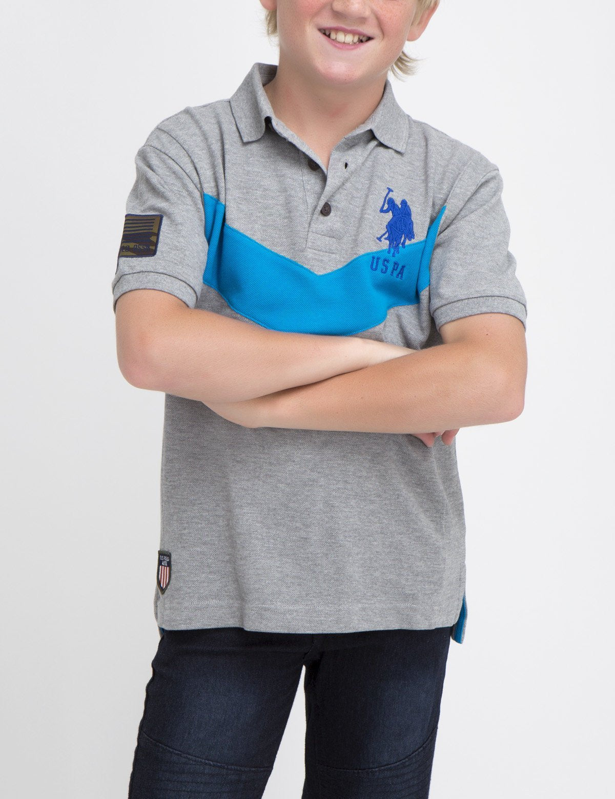 BOYS CHEVRON POLO SHIRT
