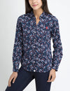 MULTI FLORAL ROLL-UP POPLIN SHIRT - U.S. Polo Assn.