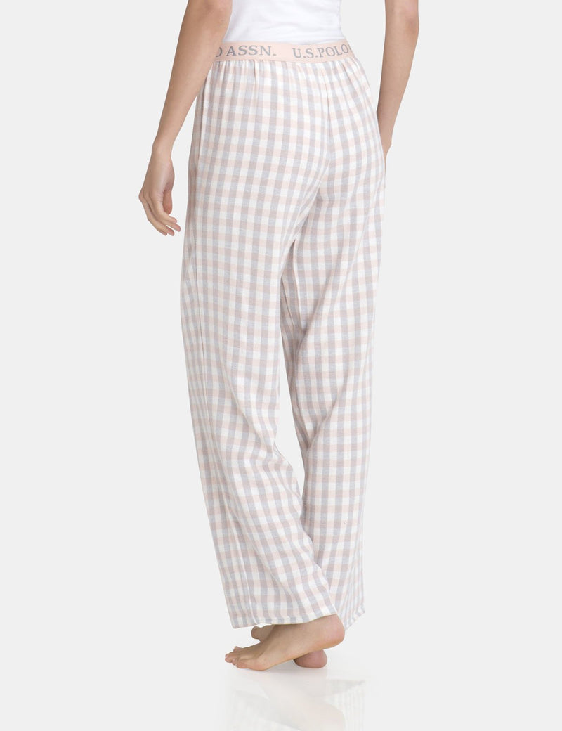 STRAIGHT LEG PLAID PANT