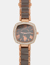 CHAIN WATCH WITH DIAMOND FACE - U.S. Polo Assn.